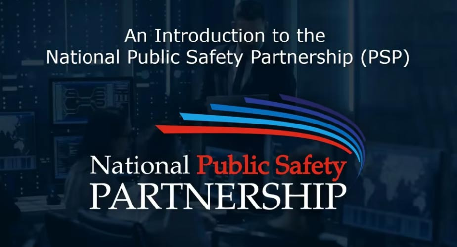 Screenshot from beginning of An Introduction to the National Public Safety Partnership video