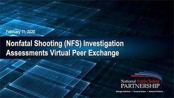 Nonfatal Shooting Investigation Assessments Overview – Virtual Peer Exchange cover page thumbnail