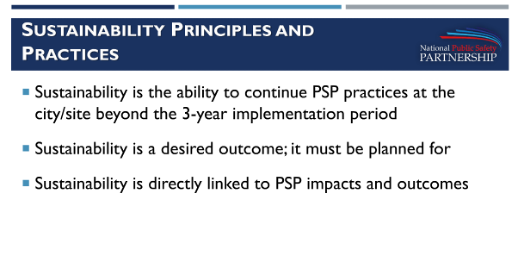 Sustainability Presentation by 2016 PSP Sites slide