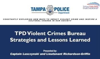 Tampa Police Department (TPD) Gun Crime Reduction Strategies slide
