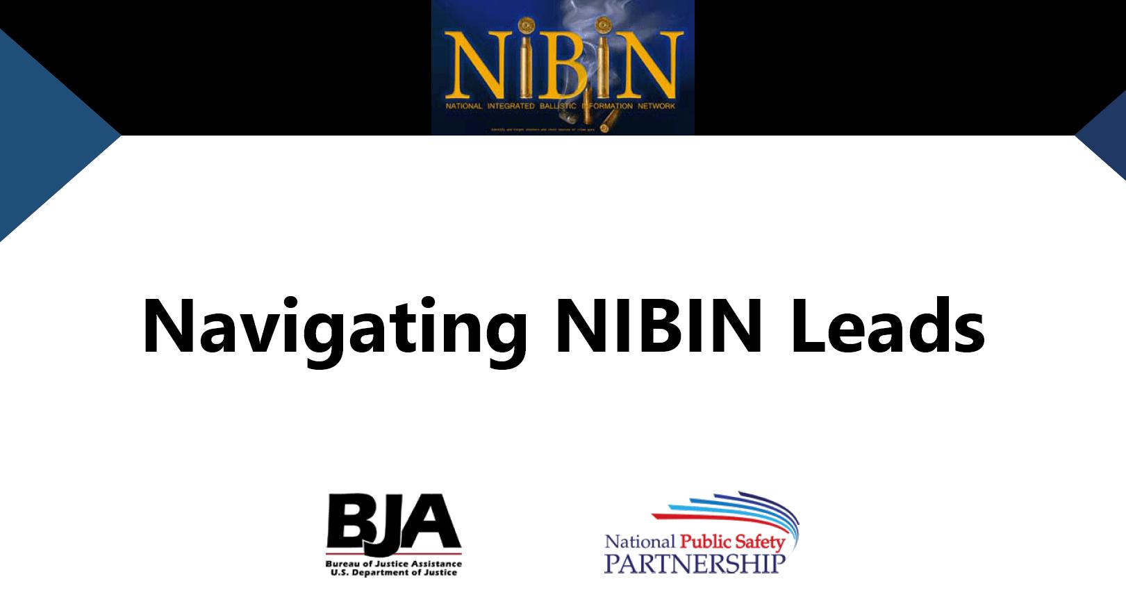 Navigating NIBIN Leads slide
